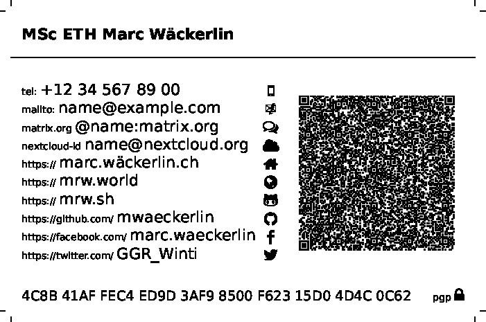 Ctan tex archivemacrosxetexlatexbusinesscard qrcodescreenshots files reheart Choice Image
